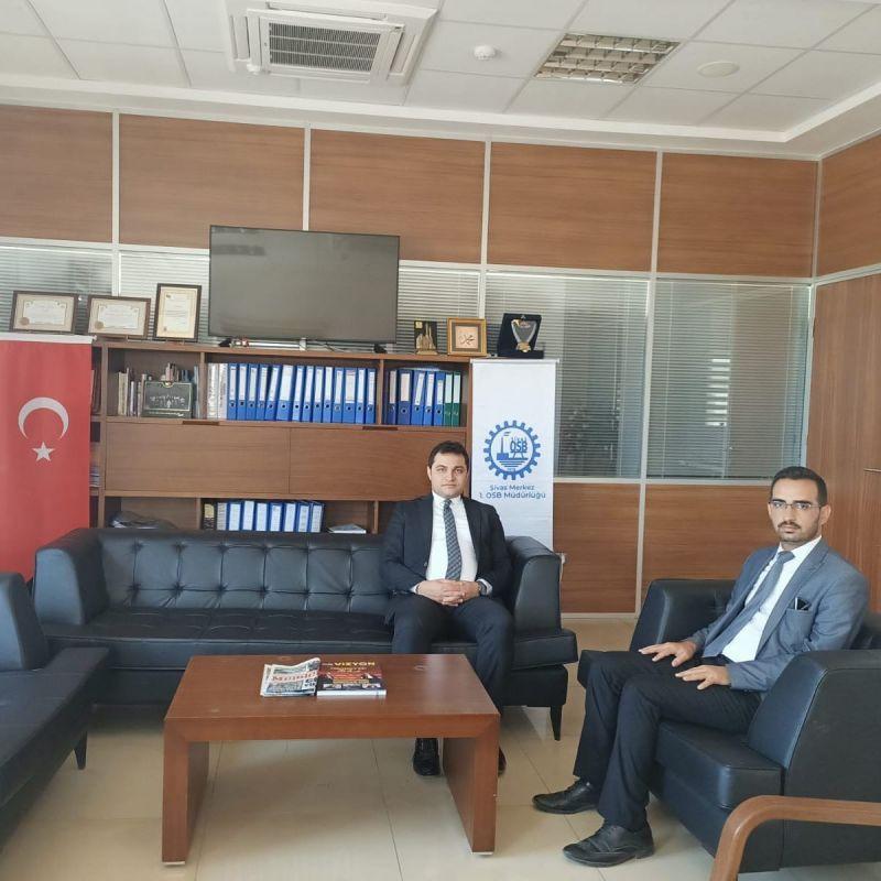Vali yardımcımız Yunus Emre Temel, OSB Müdürümüz Emre Torun'a veda ziyaretinde bulundu.